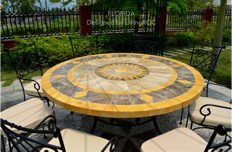 Garden Patio Table by 49 Quot Outdoor Patio Garden Table Mosaic Marble