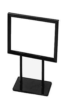 Black Counter Top Sign Holders | Bathroom countertops