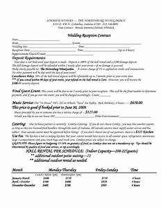 best photos of venue rental contract template real With wedding contract example