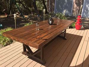 DIY Large Outdoor Dining Table - Seats 10-12 Patio