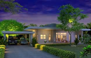 contemporary house plans single story modern style single story house plans for construction in thai living area 130 sq m 2 bedrooms