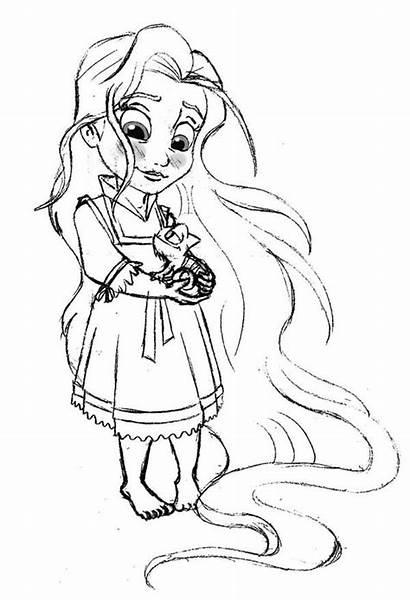 Coloring Rapunzel Disney Pages Princess Tangled Printable