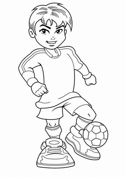 Coloring Boy Soccer Pages Boys Jersey Complete