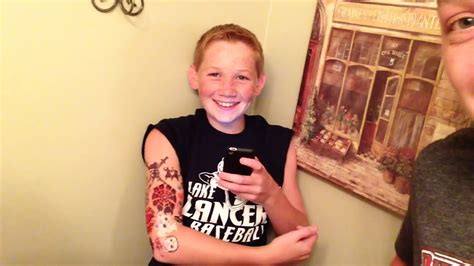 13 Year Old Gets A Tattoo Sleeve!!  Day 76 Youtube