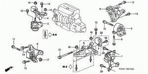 Front Right Rubber Engine Mounts Honda Civic Crv 2002
