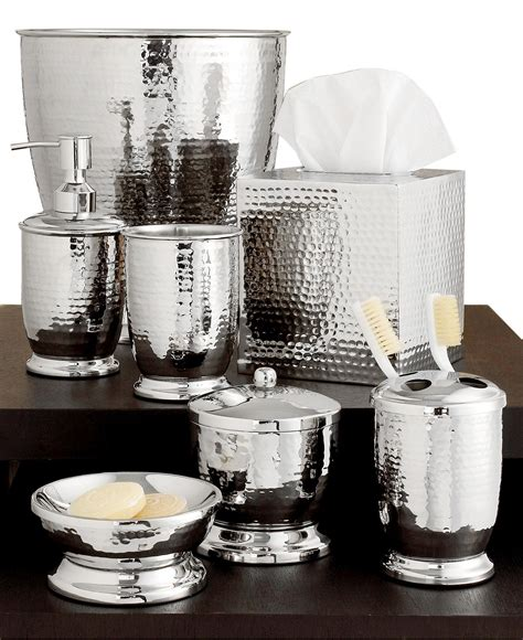 Bathroom Spa Accessories by Paradigm Hammered Metal Accessories Collection Bathroom