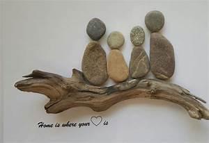 Basteln Mit Steinen : home is bild aus kieselsteinen von tamikra auf ~ Watch28wear.com Haus und Dekorationen