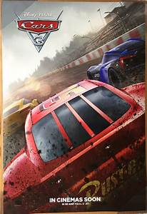 CARS 3 MOVIE POSTER 2 Sided ORIGINAL INTL Version D 27x40 ...