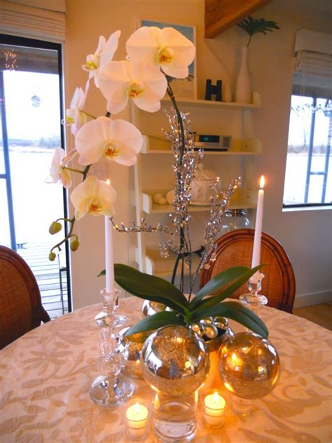 deko mit orchideen  kreative ideen