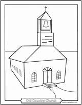 Church Coloring Pages Printable Country Colouring Catholic Helpers Churches Sketch Template Templates Simple Ic Saintanneshelper Roman sketch template