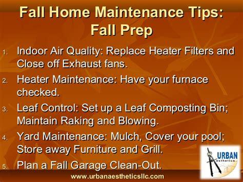 Fall Home Maintenance Tips  Home Design