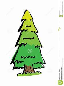 Cartoon Drawing Tree With Color Royalty Free Stock Photo ...
