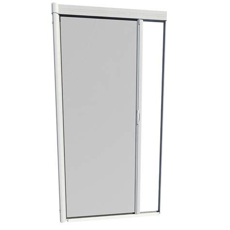 larson retractable screen door shop larson escape white aluminum retractable screen door