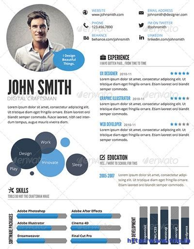 Visual Resume Templates by 29 Awesome Infographic Resume Templates You Want To