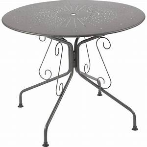 table de jardin romantique ronde gris graphithe 4 With table de jardin aluminium leroy merlin 1 table de jardin romantique ronde gris graphithe 4