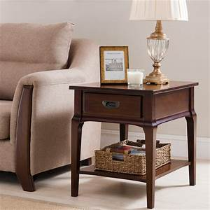 Leick, Home, Stratus, Drawer, End, Table, In, Heartwood, Cherry