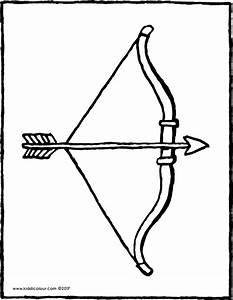 Indian Bow And Arrow Coloring Pages Sketch Page