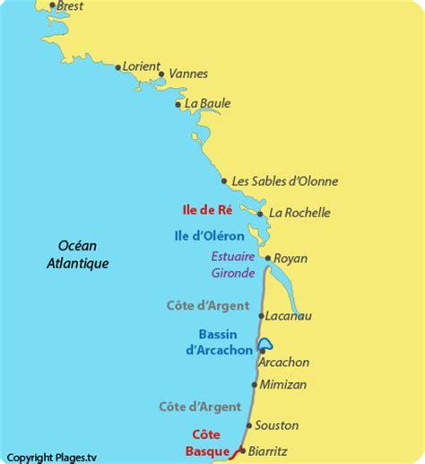 Carte De Plage Atlantique by Plages De La C 244 Te Atlantique Photos Avis Et Plans Des