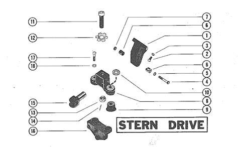1978 Mercruiser 898 Wiring Diagram by каталог запчастей Mercruiser остальные 225 Mie Gm 327 V 8