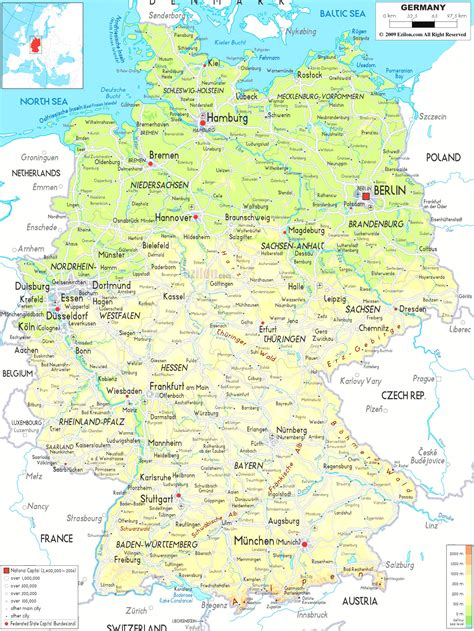 germany maps  towns  cities  travel information