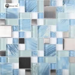 blue glass tile kitchen backsplash tst glass metal tile blue sky cloud white kitchen bath backsplash mosaic