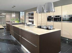 cream brown kitchen gloss modern kitchen ideas pinterest With cream and brown kitchen designs
