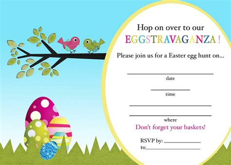 easter egg hunt invitations printable