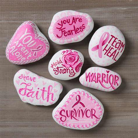 breast cancer awareness diy kindness rocks project