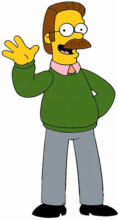 Cartoon Simpsons Characters Clipart Flanders Ned Cliparts
