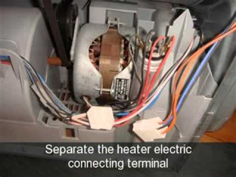 how to change the heater element an indesit tumble dryer youtube