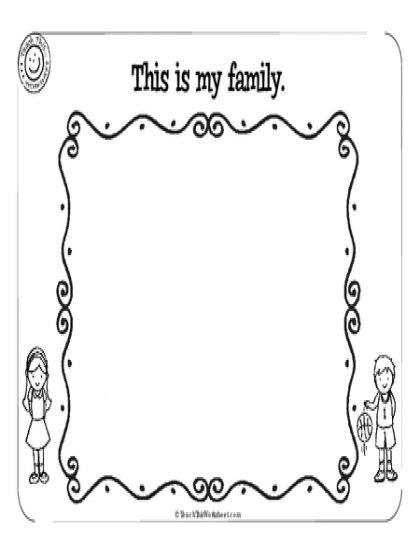 family worksheet    family activities worksheets