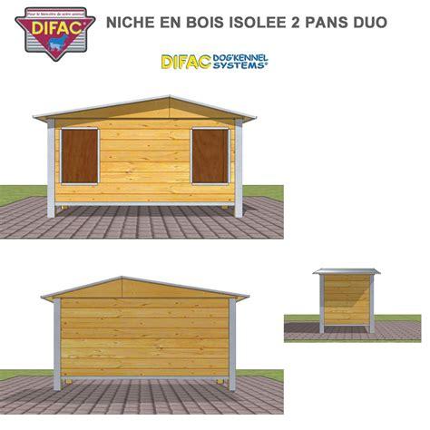 niche exterieure pour chien niche d ext 233 rieur pour chien en bois isol 233 e 2 pans 930035 difac