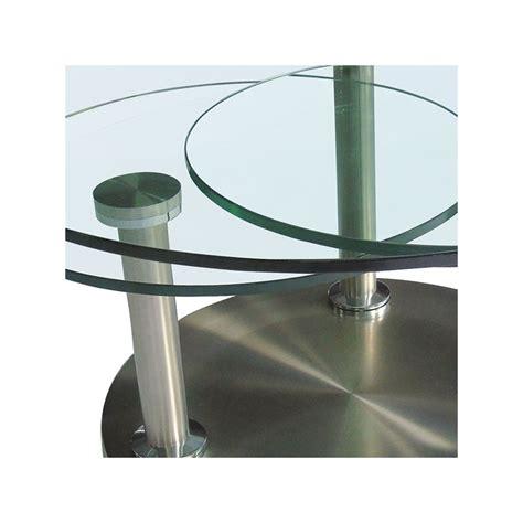 table salon verre trempe table basse articul 233 e verre et m 233 tal trygo univers salon tousmesmeubles