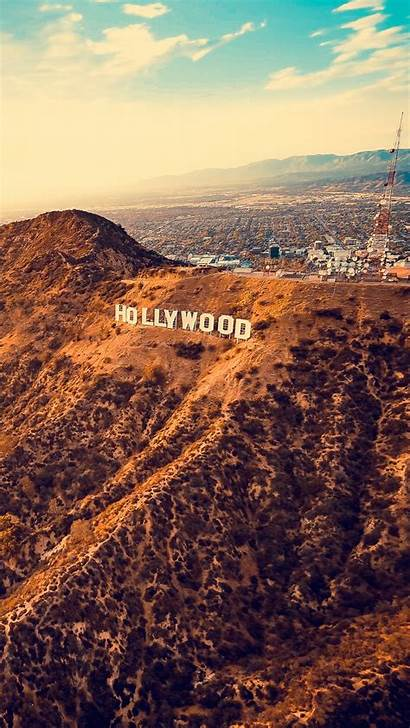 Hollywood Angeles Los Sign Mountains Iphone Background