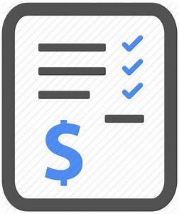 Bill, billing, blue, check, finance, invoice, payment icon ...