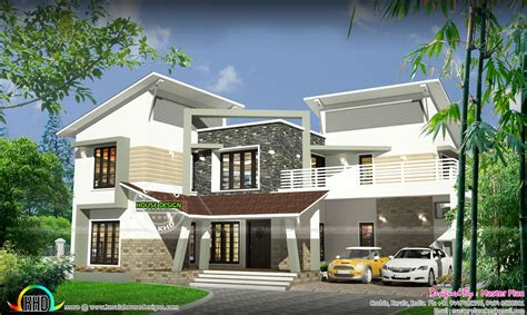 lakhs contemporary home kerala home design  floor