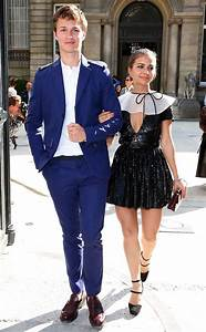 Ansel Elgort, Violetta Komyshan spotted in Paris walking ...