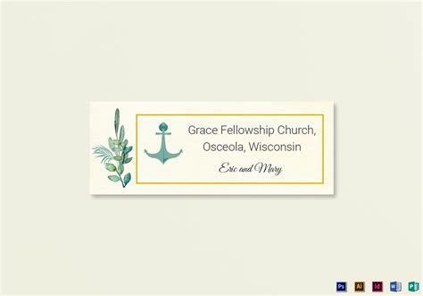 wedding address labels template nautical wedding address labels card template in psd word publisher illustrator indesign