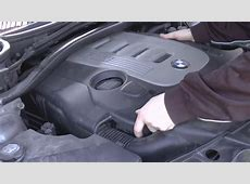 How to remove the engine cover on BMW 30d YouTube