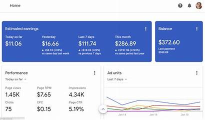 Adsense Google Account Earnings Overview Revenue Beginners
