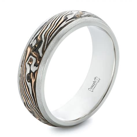 custom palladium and mokume s wedding band 102360 seattle bellevue joseph jewelry