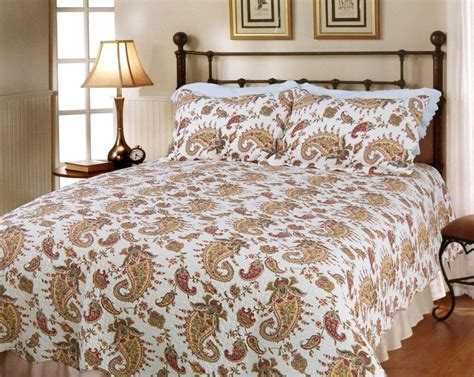 Quilted Coverlet by Peace Of Mind 100 Cotton Quilt Set Bedspread Coverlet