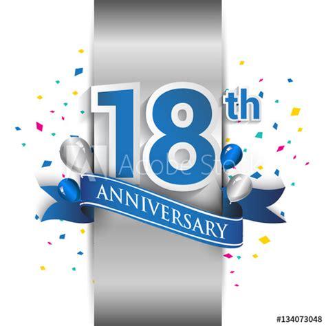 anniversary logo  silver label  blue ribbon
