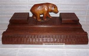 Antike Esstische Holz : antike schreibtischgarnitur aus holz mit schreitendem b r ~ Michelbontemps.com Haus und Dekorationen