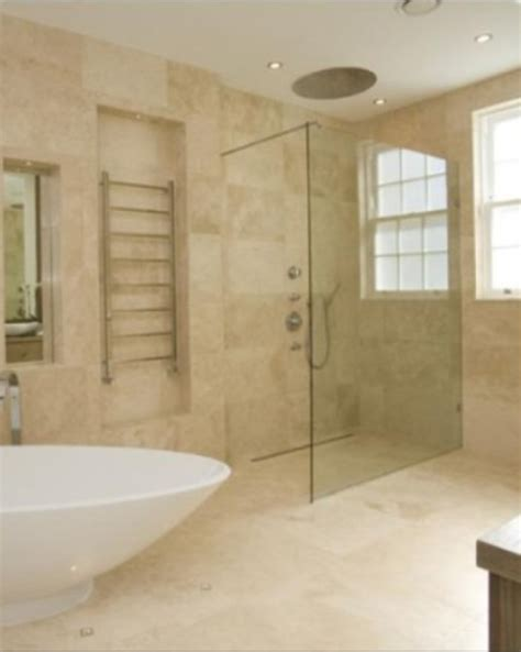 Travertine Bathroom Tiles by Silver Travertine Pattern Available In Both