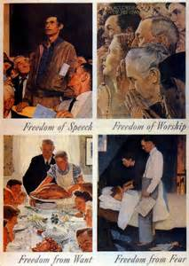 Image result for images rockwell four freedoms