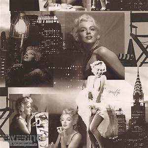 Marilyn Monroe Maße : essener 28 12101209 les aventures marilyn monroe schwarz papier tapeten ~ Orissabook.com Haus und Dekorationen