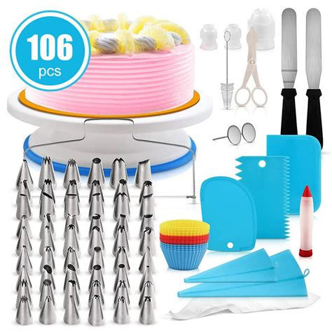 hot pcs cake decorating supplies cake turntable set
