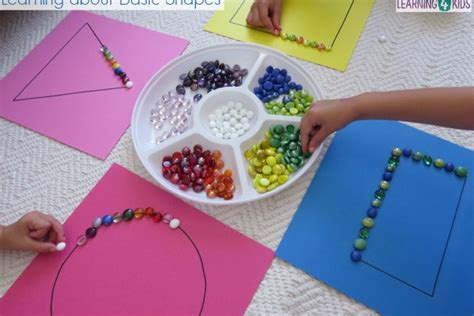 basic shapes work station or centre activity learning 4 647 | Simple small group activity learning about shapes great for maths centres or work stations. 600x400