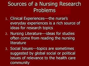 nursing research studies topics